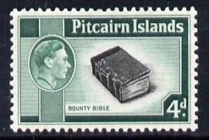 Pitcairn Islands 1940-51 KG6 Bounty Bible 4d unmounted mi...