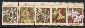 Christmas Island Sc 363 1994 Orchids stamp set mint NH