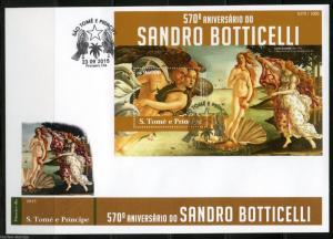 SAO TOME  2015 570th BIRTH  ANNIVERSARY OF SANDRO BOTTICELLI S/S FIRT DAY COVER