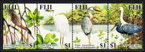 Fiji Birds Herons and Egrets strip of 4v SG#1251-1254