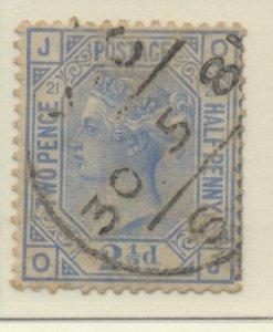 Great Britain Stamp Scott #82 Plate #21, Used - Free U.S. Shipping, Free Worl...