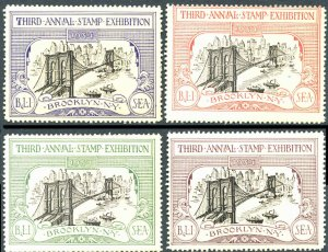 3rd Annual Stamp Show Brooklyn NY 1934 Stamp Show Souvenir Set Mint Never Hinged