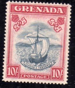 GRENADA 1937 1938 SEAL OF THE COLONY SHILLING 10sh MNH