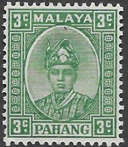 Malaysia- Pahang - 30A   1941  3c  fine mint - hinged