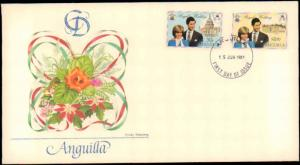 Anguilla, Worldwide First Day Cover, Royalty