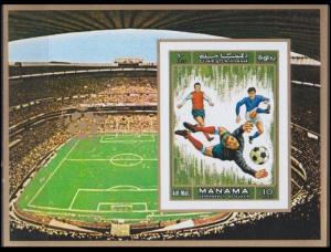 1972 Manama 724/B139b 1970 World championship on football of Mexico 10,00 €