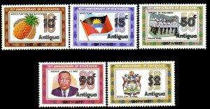 ANTIGUA - 1977 - STATEHOOD - 10th ANNIVERSARY - FLAG - ARMS - MINT MNH SET!