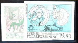 SWEDEN #1699A 1754A MINT BOOKLETS Cat $19