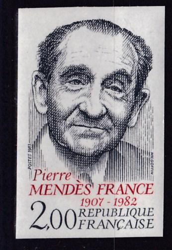 France 1983 2.fr. Pierre Mendez IMPERF.. XF/NH(**)