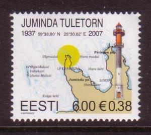 Estonia Sc564 2007 Juminda Lighthouse stamp NH
