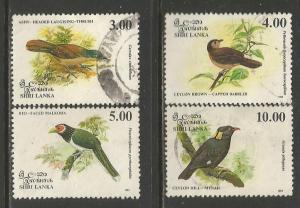 Sri Lanka  #1079-82  Used  (1993)  c.v. $4.20