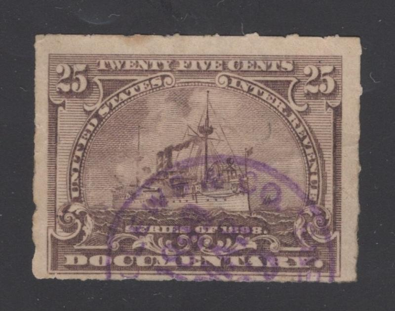 R169 - 25 Cents - Purple Brown - Documentary Revenue - Magenta Cancel