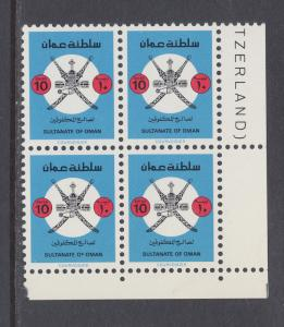 Oman Sc 214 MNH. 1981 10b Welfare of the Blind, block of 4, complete set, VF.