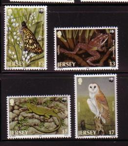 Jersey Sc 507-10 1989 WWF stamps NH