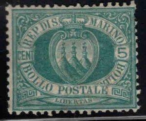 San Marino Scott 6 MH*  Green 1899 stamp