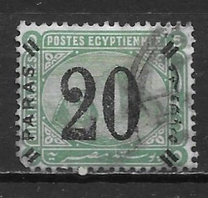 Egypt 42 1884 20pa Surcharge Used (z2)