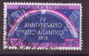 J17184 JLstamps 1953 italy hv of set used #638 rainbow
