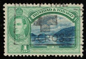 1938-1944 King George VI, 1 cent, Trinidad and Tobago, SC #50 (T-7296)