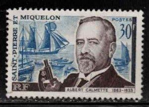 ST PIERRE & MIQUELON Scott # 366 Used - Albert Calmette