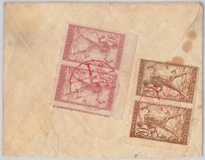 55981 -   YUGOSLAVIA -  POSTAL HISTORY:  COVER with RED ZAGREB postmark  1920