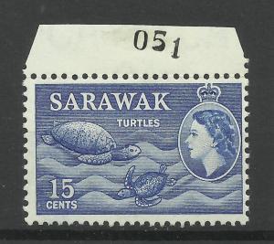 Sarawak 1955, Sg 195, 15c Blue, Unmounted Mint. [1448]