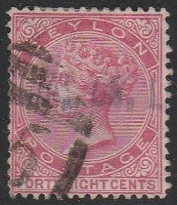 Ceylon #71 Used Single Stamp cv $9.50