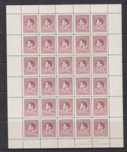 NEW GUINEA, 1937 Coronation, 1s. Purple, sheet of 30, mnh.