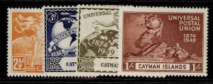 CAYMAN ISLANDS GVI SG131-134, anniversary of UPU set, M MINT.