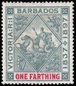 Barbados  - Scott 81 - Mint-Hinged - Adhesions on Back