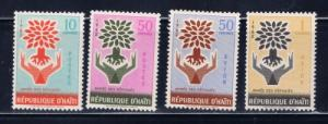 Haiti C489-90C191-92 NH 1962 World Refugee Set complete