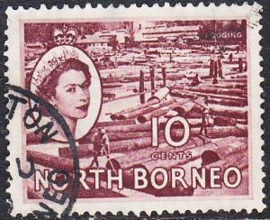 North Borneo #267 Used