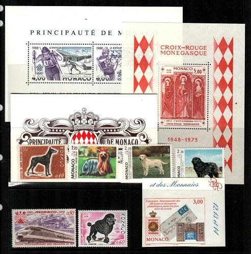 Monaco - NH sets and S/S lot (Catalog Value $54.30) [TC779]