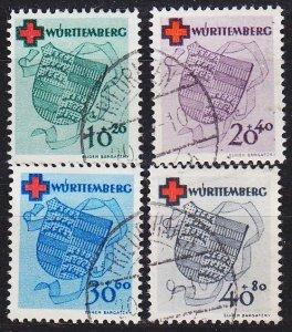 GERMANY Alliiert Franz. Zone [Württemberg] MiNr 0040-43 A ( O/used ) [01] ge...