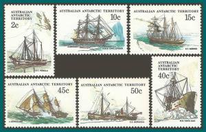 AAT 1981 Ships 3, MNH L38,L40,L42,L48,L49,L50,SG38,SG40,SG42,SG48,SG49,SG50