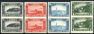 CANADA: Sc.#174a-177a  **  12¢-$1.00 Imperforated Set, OUTSTANDING set of 4 ...