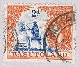 Basutoland 48 Used Mosotho horseman 1954 (BP37926)
