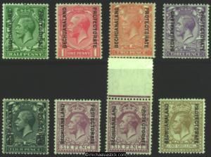 1925-27 Bechuanaland KGV definitives, set of 8, SG 91-8, 3d hinged