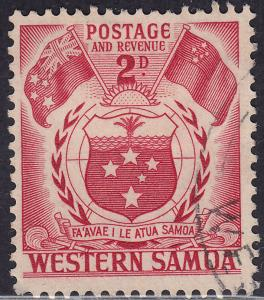 Western Samoa 205 USED 1952 Arms and Flags