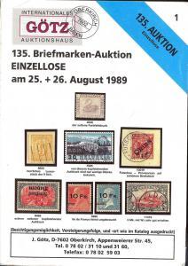 Gotz: Sale # 129  -  135. Briefmarken-Auktion, Jurgen Got...
