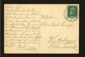 Bavaria 78 on PM Passau 1912 Postcard Used