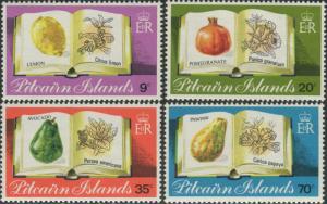 Pitcairn Islands 1982 SG222-225 Fruit set MNH