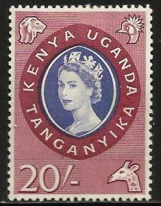 Kenya, Uganda & Tanzania 1960 Scott# 135 MH (slight thin)