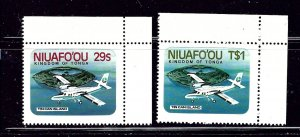 Tonga-Niuafooi 1-2 MNH 1983 Airplanes