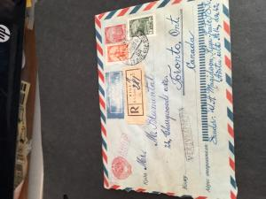 Latvia As Republic IN Soviet Union - 1961 Registered  Airmail Postal Stat. Cvr.