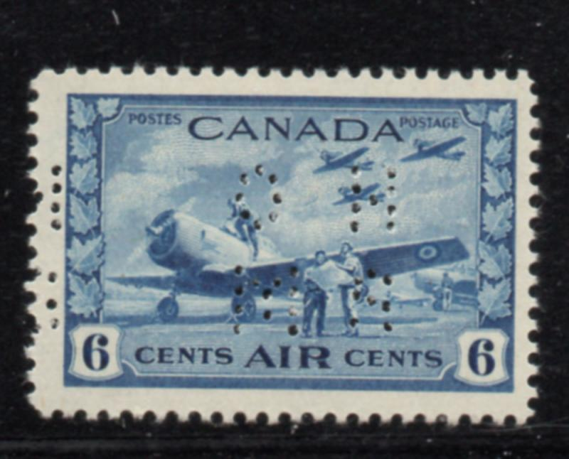 Canada USC#OC7 1942 6c airmail perforated OHMS stamp mint NH