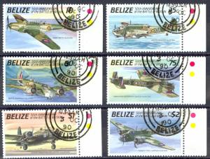 Belize Sc# 951-956 SG# 1086/1091 Used 1990 Aircraft
