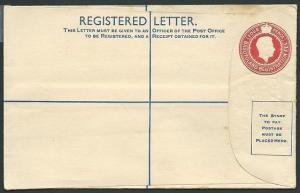 BASUTOLAND GVI 4d registered envelope unused...............................40165