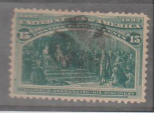 U.S. Scott #237-238 Columbian Stamps - Used Set of 2