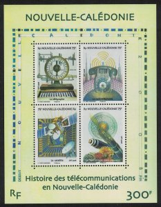 New Caledonia History of Telecommunications MS SG#1452 MI#1469-1472 CV£10+