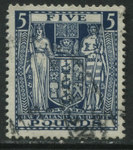 New Zealand 1932 £5 Postal Fiscal CDS used